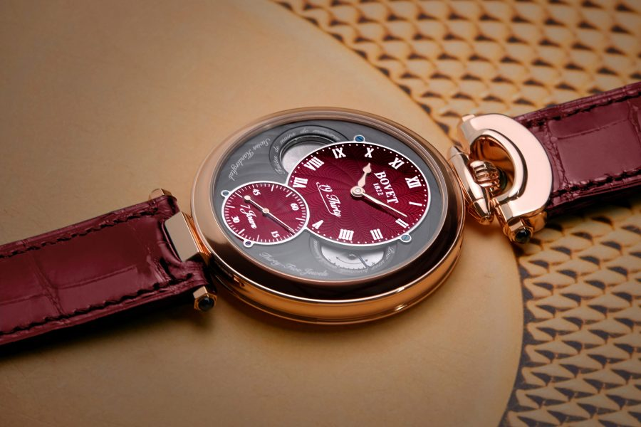 Bovet Fleurier 19Thirty with a Rich Red Guilloché Dial